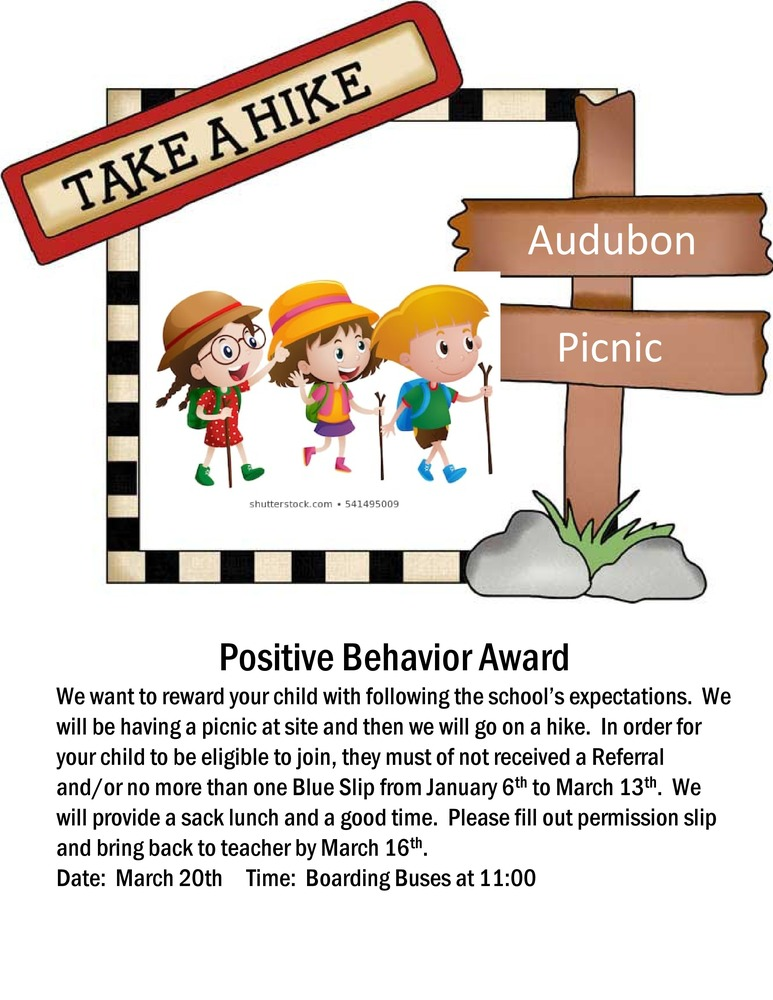 (TK-3)South Fork Fay Campus Positive Behavior Award